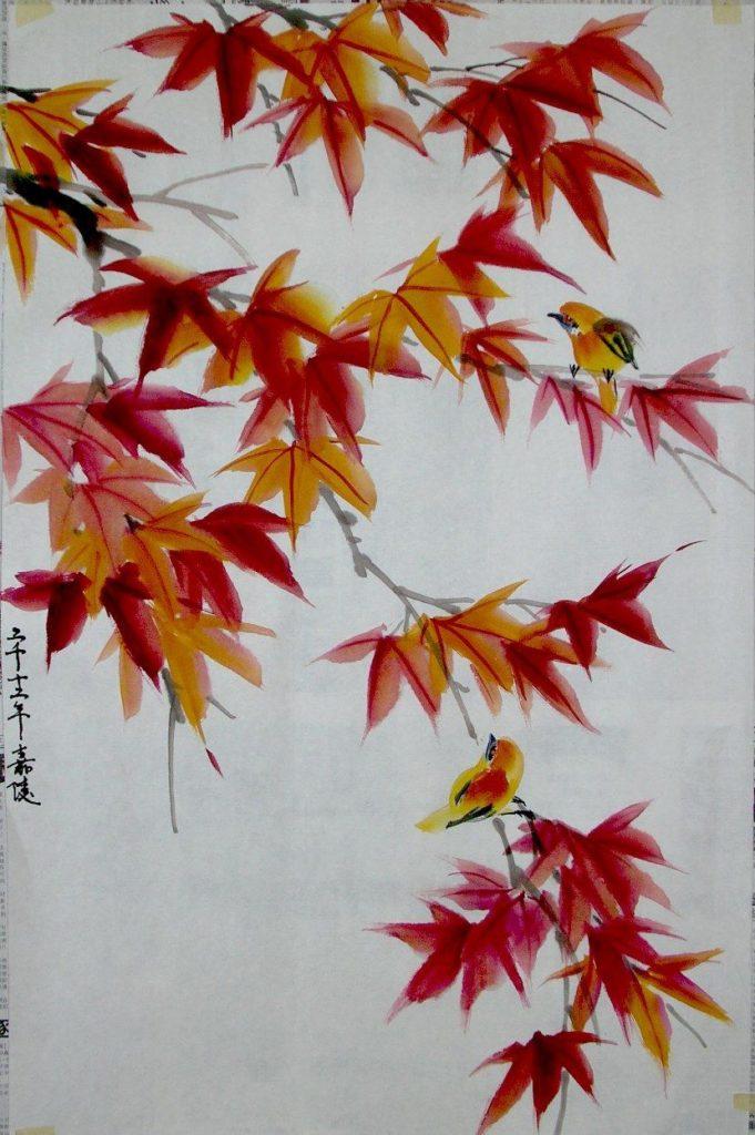 sumi-e-otoño
